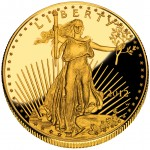 2012 American Eagle Gold One Ounce Proof Coin Obverse