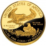 2012 American Eagle Gold Quarter Ounce Proof Coin Reverse
