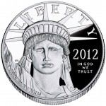 2012 American Eagle Platinum One Ounce Proof Coin Obverse