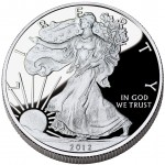 2012 American Eagle Silver One Ounce Proof Coin Obverse