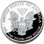 2012 American Eagle Silver One Ounce Proof Coin Reverse