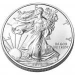 2012 American Eagle Silver One Ounce Uncirculated Coin Obverse