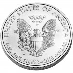 2012 American Eagle Silver One Ounce Uncirculated Coin Reverse