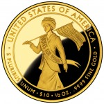 2012 First Spouse Gold Coin Alice Paul Suffragette Proof Reverse