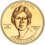 2012 First Spouse Gold Coin Alice Paul Suffragette Uncirculated Obverse