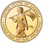 2012 First Spouse Gold Coin Alice Paul Suffragette Uncirculated Reverse
