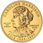 2012 First Spouse Gold Coin Caroline Harrison Uncirculated Obverse