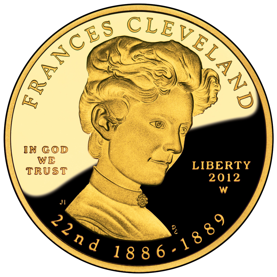 2012 First Spouse Gold Coin Frances Cleveland First Term Proof Obverse