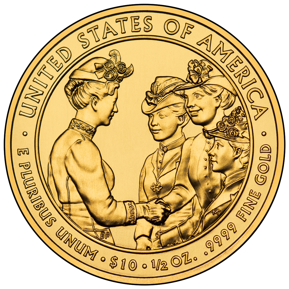 2012 First Spouse Gold Coin Frances Cleveland First Term Uncirculated Reverse