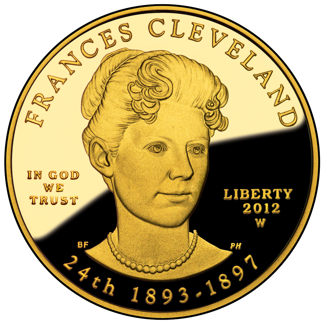 2012 First Spouse Gold Coin Frances Cleveland Second Term Proof Obverse