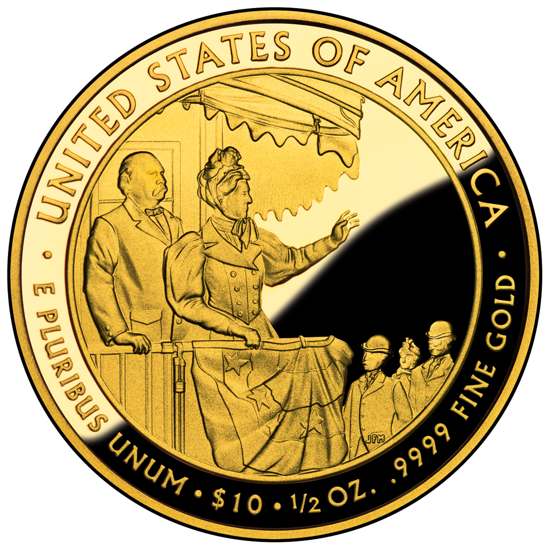 2012 First Spouse Gold Coin Frances Cleveland Second Term Proof Reverse