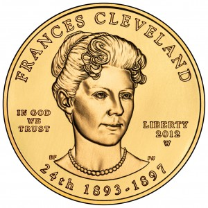 2012 First Spouse Gold Coin Frances Cleveland Second Term Uncirculated Obverse