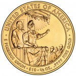 2012 First Spouse Gold Coin Frances Cleveland Second Term Uncirculated Reverse