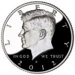 2012 Kennedy Half Dollar Proof Obverse San Francisco