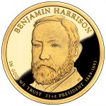 2012 Presidential Dollar Coin Benjamin Harrison Proof Obverse