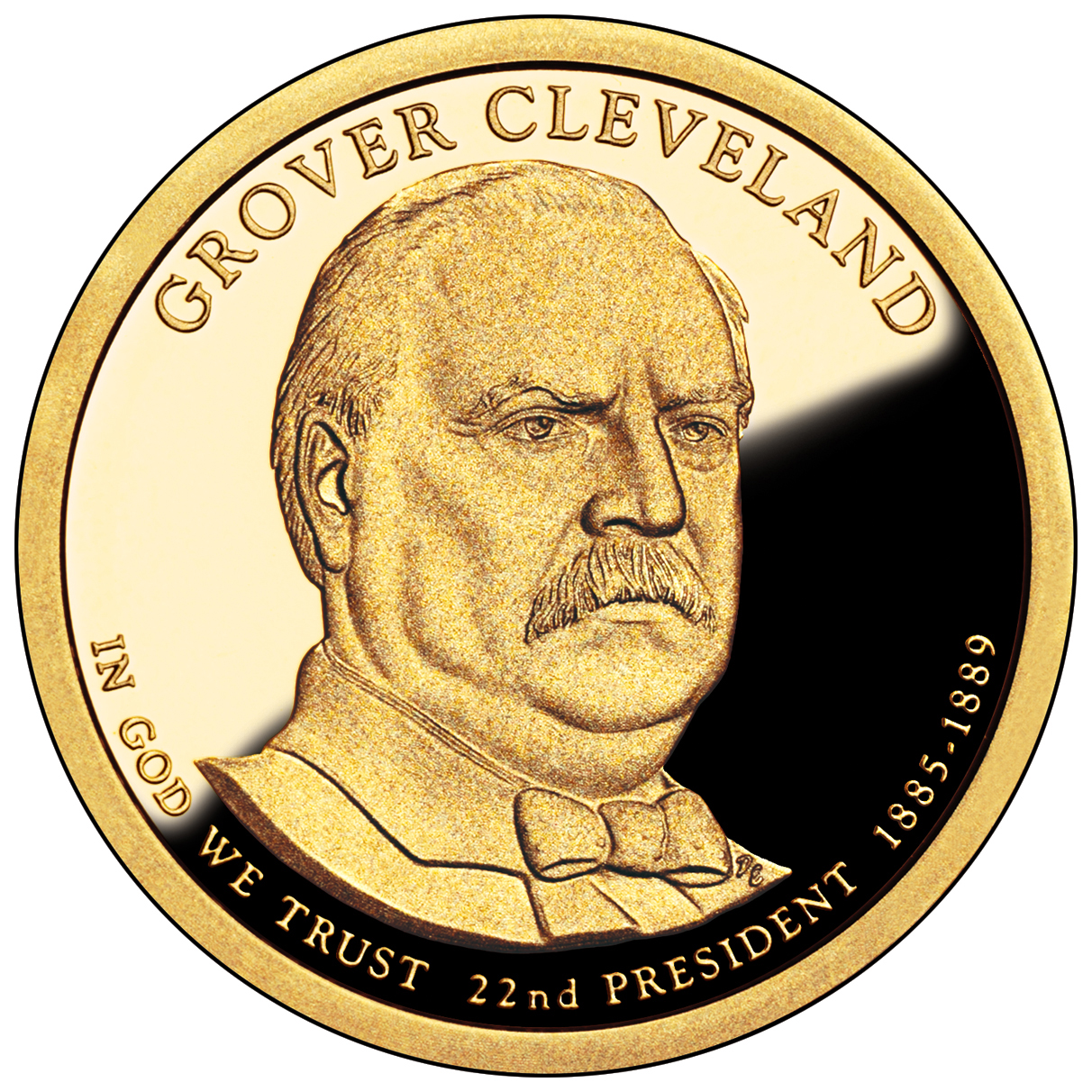 2012 Presidential Dollar Coin Grover Cleveland First Term Proof Obverse