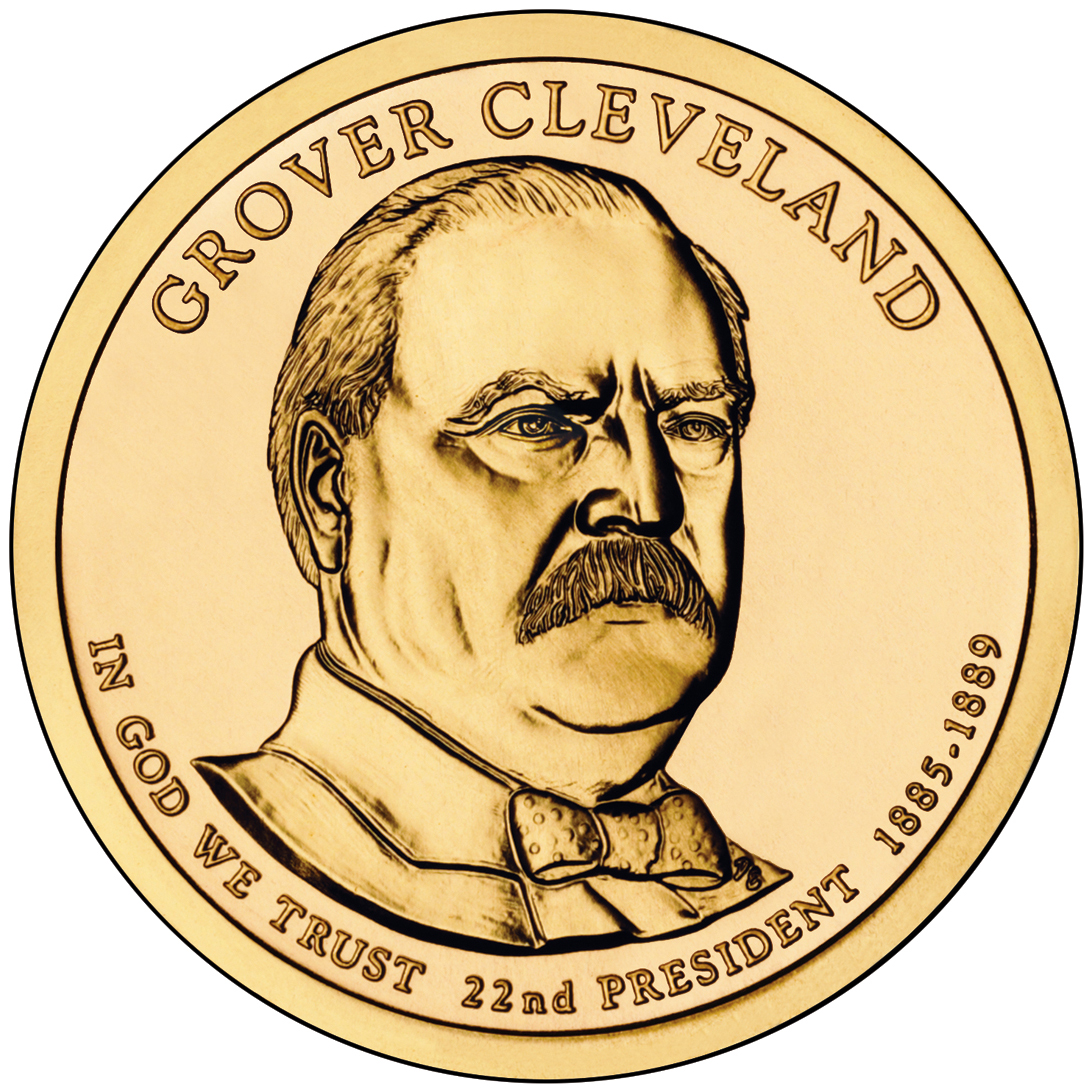 2012 Presidential Dollar Coin Grover Cleveland First Term Uncirculated Obverse