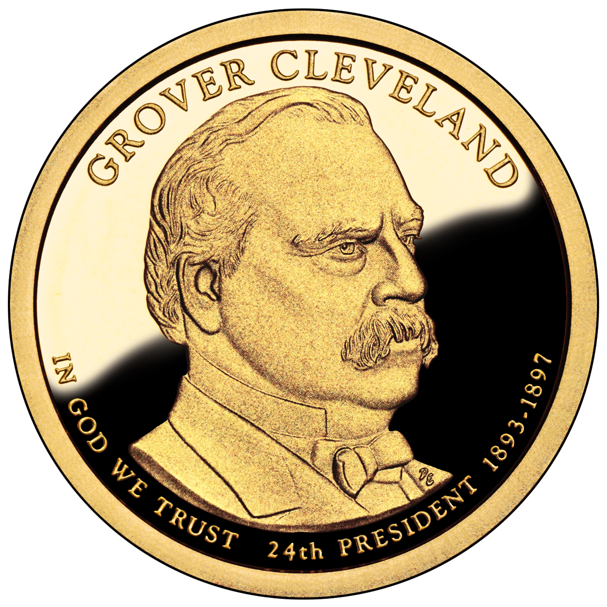 2012 Presidential Dollar Coin Grover Cleveland Second Term Proof Obverse