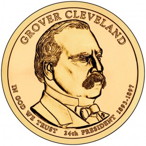 2012 Presidential Dollar Coin Grover Cleveland Second Term Uncirculated Obverse