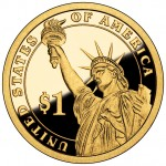2012 Presidential Dollar Coin Proof Reverse