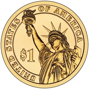 2012 Presidential Dollar Coin Uncirculated Obverse