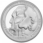 2013 America The Beautiful Quarters Coin Mount Rushmore South Dakota Proof Reverse