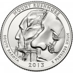 2013 America The Beautiful Quarters Coin Mount Rushmore South Dakota Uncirculated Reverse