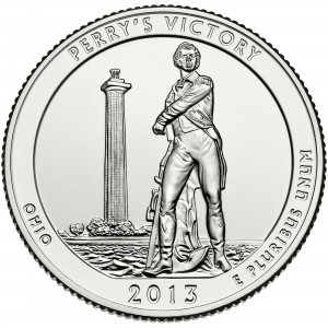 2013 America The Beautiful Quarters Coin Perrys Victory Ohio Uncirculated Reverse