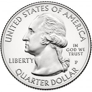 2013 America The Beautiful Quarters Coin Uncirculated Obverse P