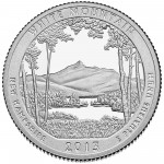 2013 America The Beautiful Quarters Coin White Mountain New Hampshire Proof Reverse