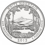 2013 America The Beautiful Quarters Coin White Mountain New Hampshire Uncirculated Reverse