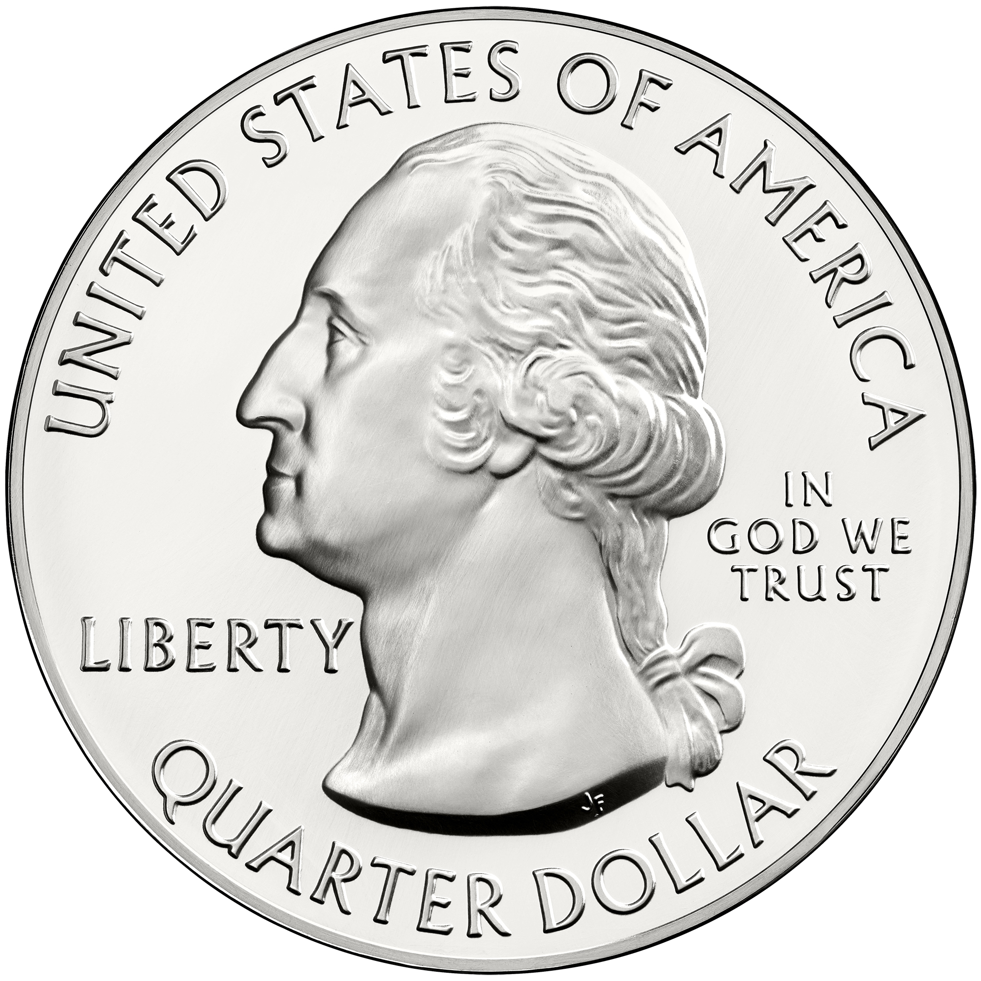 2013 America The Beautiful Quarters Five Ounce Silver Bullion Coin Obverse