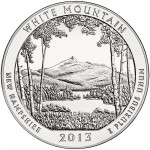 2013 America The Beautiful Quarters Five Ounce Silver Bullion Coin White Mountain New Hampshire Reverse