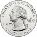 2013 America The Beautiful Quarters Five Ounce Silver Uncirculated Coin Obverse