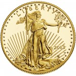 2013 American Eagle Gold Half Ounce Proof Coin Obverse