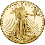 2013 American Eagle Gold One Ounce Proof Coin Obverse