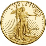 2013 American Eagle Gold Quarter Ounce Proof Coin Obverse