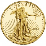2013 American Eagle Gold Tenth Ounce Proof Coin Obverse