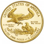 2013 American Eagle Gold Tenth Ounce Proof Coin Reverse