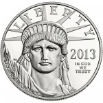 2013 American Eagle Platinum One Ounce Proof Coin Obverse