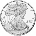 2013 American Eagle Silver One Ounce Proof Coin Obverse