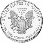 2013 American Eagle Silver One Ounce Proof Coin Reverse