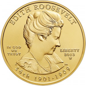 2013 First Spouse Gold Coin Edith Roosevelt Uncirculated Obverse