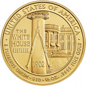 2013 First Spouse Gold Coin Edith Roosevelt Uncirculated Reverse