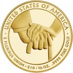 2013 First Spouse Gold Coin Edith Wilson Proof Reverse