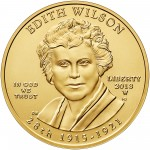 2013 First Spouse Gold Coin Edith Wilson Uncirculated Obverse