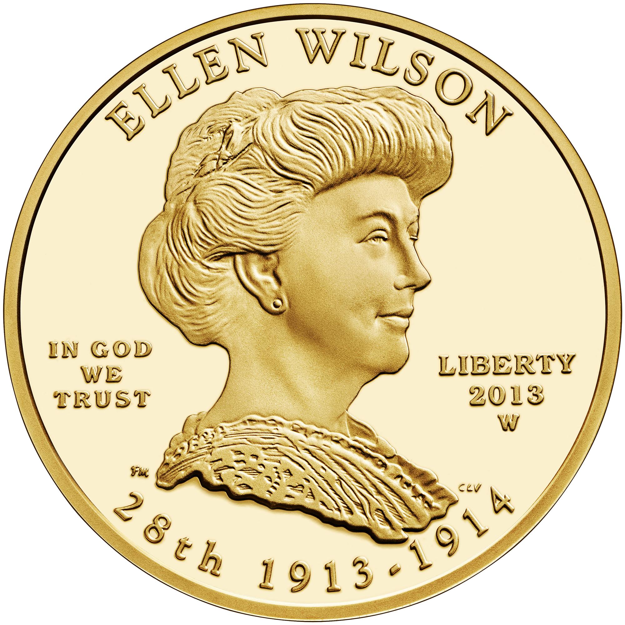 2013 First Spouse Gold Coin Ellen Wilson Proof Obverse