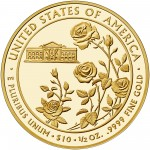 2013 First Spouse Gold Coin Ellen Wilson Proof Reverse