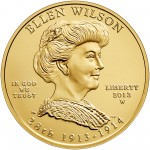 2013 First Spouse Gold Coin Ellen Wilson Uncirculated Obverse