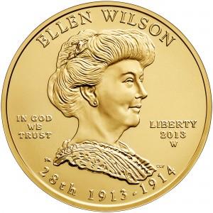2013 First Spouse Gold Coin Ellen Wilson Uncirculated Obverse